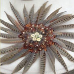 Pheasant feather craft wreath
